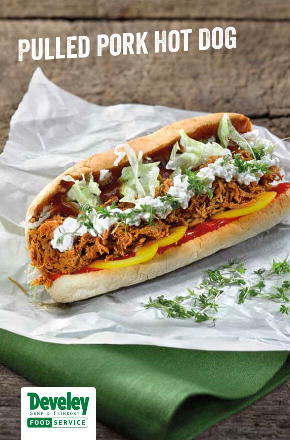 Gratis Pulled Pork Hot Dog Rezept