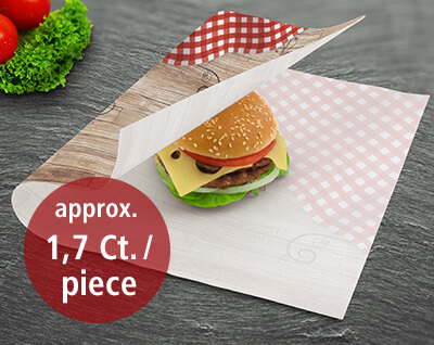 Burgers packed in WrappingPaper