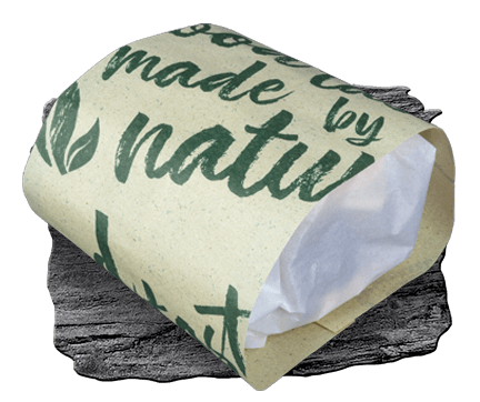 Paper packaging in premium look for takeaway and delivery burgers