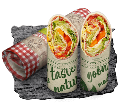Paper packaging for rolled wraps