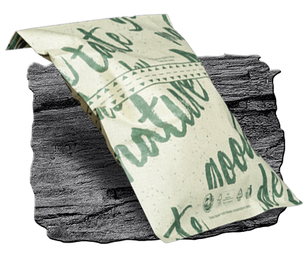 Baker's bag with tear strip. Made from sustainable grass paper