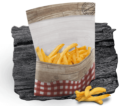 Sealable bag for side dishes such as French fries chicken or quark balls