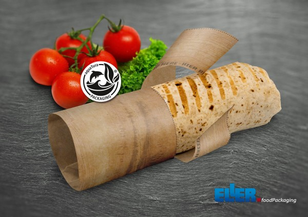 Nachhaltige Burrito Verpackung im palm Leaf Design Step 2