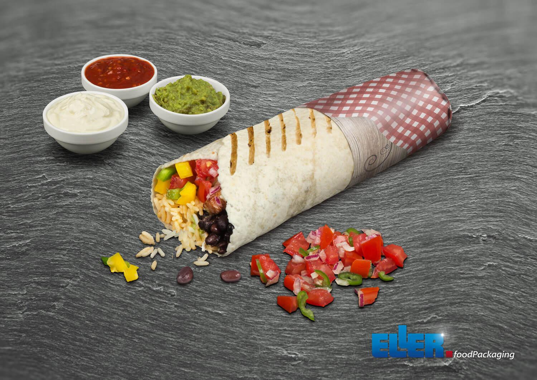 burrito paper einwickelpapier f r gerollte snacks. Black Bedroom Furniture Sets. Home Design Ideas